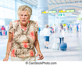 Portrait Of Angry Senior Woman