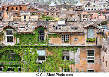 Rome, Italy - Cityscape in Rome, Italy. Old Italian...