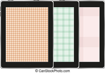 Collection of tablet pc isolated on white