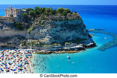 Tropea peninsola with beach - Scenic landscape with beach...