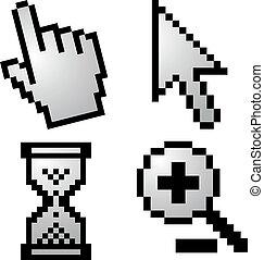 Pixelated computer cursors