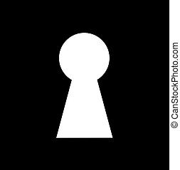 Key hole background vector. Easily put your own photo behind...