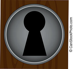 Key hole background vector