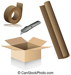 Relocation Packing Supplies - An image of relocation packing...