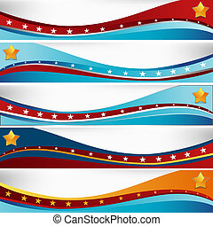 USA Flag Wave Set