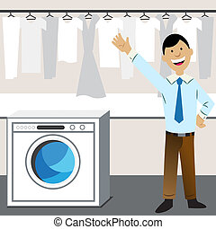 Laundry Business - An image of a laundry business