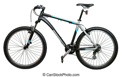 Mountain bike - Mountain bicycle bike isolated on white...