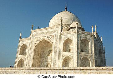 Taj Mahal in Agra  - famous landmark in Uttar Pradesh, India