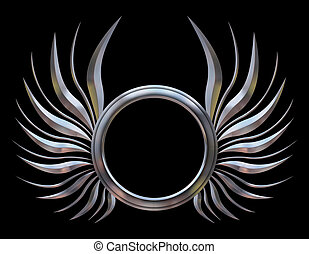 Abstract Chromed Wings - This is an Abstract Chromed Wings...