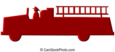 Red Chromed Fire Truck Illustration - This is a Red Chromed...