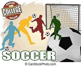 Soccer poster background - Soccer grunge poster background,...