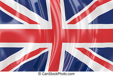Greate Britain flag - 3d illustration of Greate Britain...