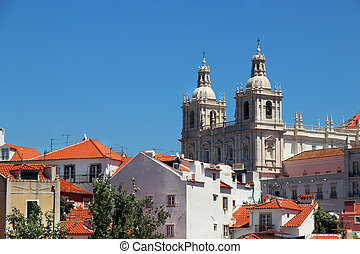 Lisbon views - Lisbon view, Portugal buildings, roofs,...