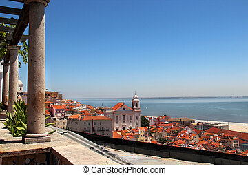 Beautiful and romantic Lisbon, Portugal - Lisbon panorama,...