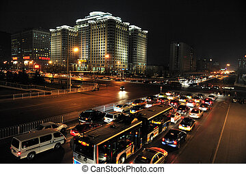 Traffic in Beijing China - BEIJING - MARCH 12: Traffic jam...