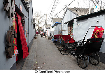 Hutong in Beijing China - BEIJING - MARCH 12:Old Chines...