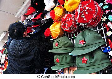 The Forbidden city in Beijing China - BEIJING - MARCH 11:Mao...