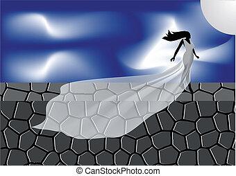 woman sleepwalker
