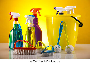 Cleaning time - Variety of cleaning products