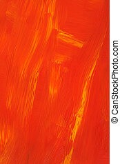 Abstract orange oil painting