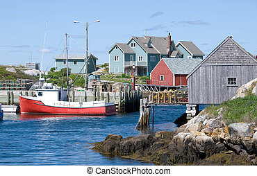 Famous Peggy\\\'s Cove - A view of Peggy\\\'s Cove in Nova...