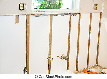 Home Remodel - Insulated Walls - Inside wall with drywall...