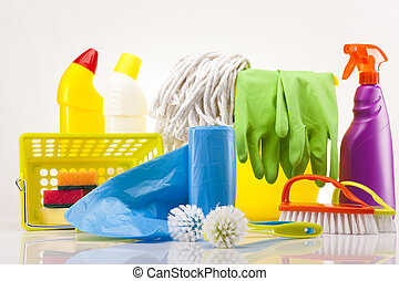 Set of cleaning products  - Variety of cleaning products