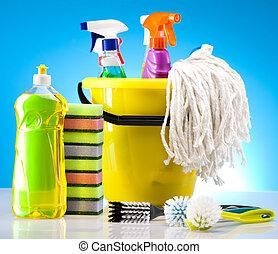 casa, limpieza
