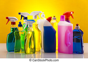Cleaning products - Variety of cleaning products