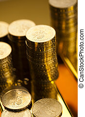 Money, coins background - Financial indicators,Chart,Gold...