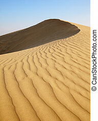 Sand dunes of desert Thar  in Rajasthan, India