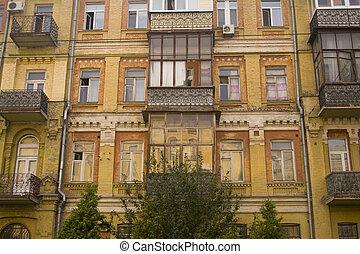Elegant old apartment buildings