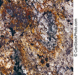Delirium Granite - Surface of the granite with white, brown,...