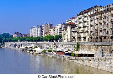 Murazzi Turin - A picture of Murazzi del Po, Turin Italy