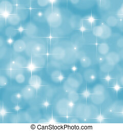 Seamless blue background with boke effect and stars -...