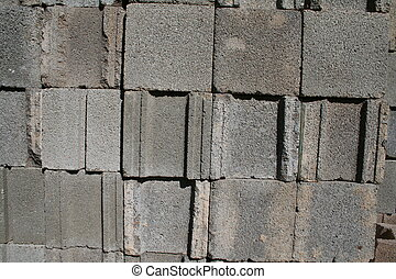 Cinder Block Texture - Cinder blocks stacked