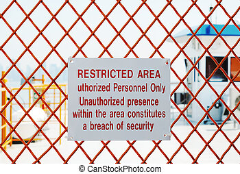 A security sign