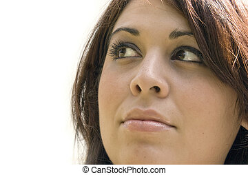 Woman In Deep Thought - A young woman is thinking about...