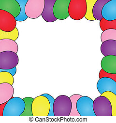 Frame with ballons - vector illustration