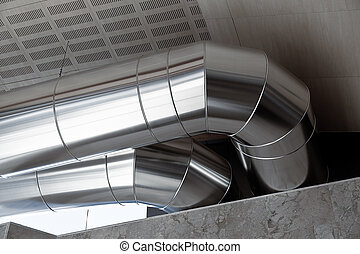 Heating Ducts - Big Heating Ducts in a Industrial Building...