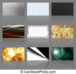 Nine Business Cards Assortment - An assortment of 9 modern...