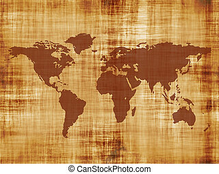 old world map - A map of the world on some really old...