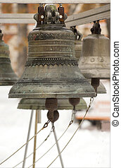 Old Russian Bell in winter