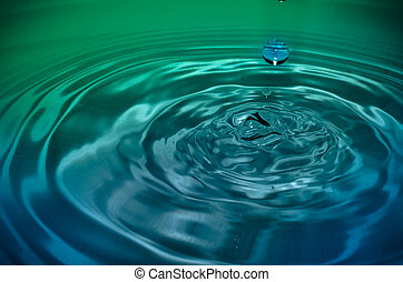 Fresh liquid concept from water drop photo