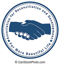 Association for Reconciliation and - Illustration of an icon...