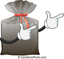 Plastic bag - Illustration of a wrapped plastic bag with a...