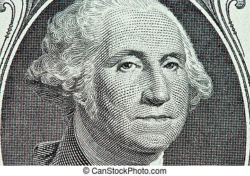 George Washington - Macro of George Washington\\\'s Face on...