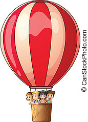 A stripe air balloon - Illustration of a stripe air balloon...
