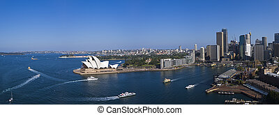 Sydney Harbour in the afternoon sun - A stock photo of...