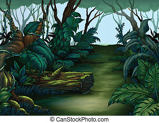 Clean and green forest - Illustration of a clean and green...